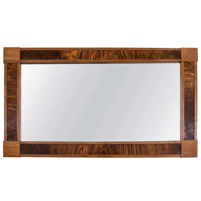 Walnut and Mahogany Mirror, Sweden 1960