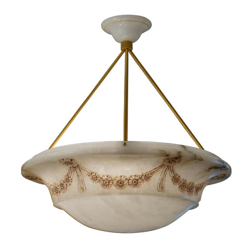 Alabaster Light Fixture, Sweden 1910-1919