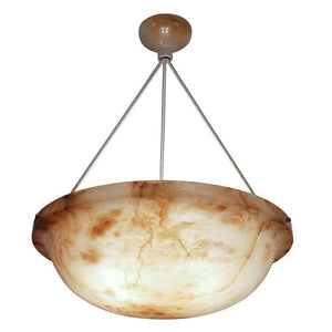 Alabaster Light Fixture, Sweden 1900-1909
