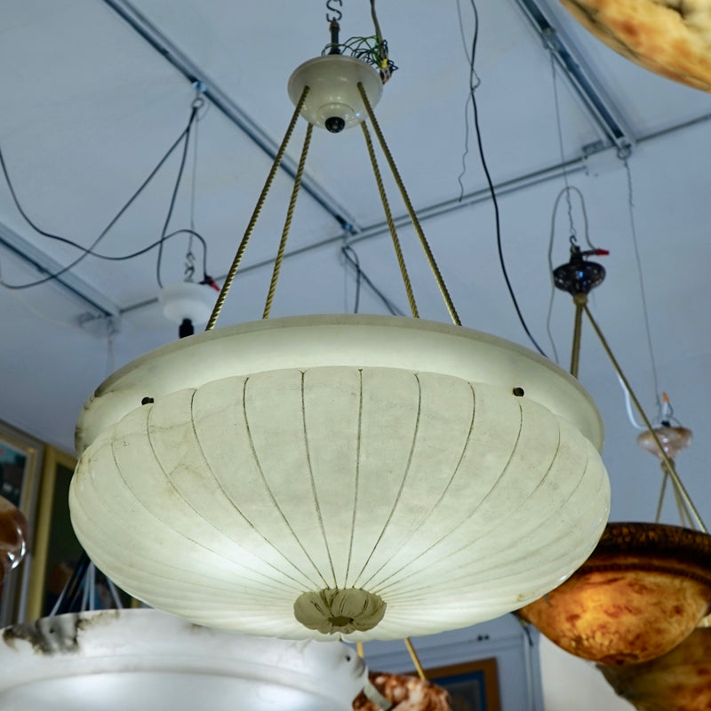 Alabaster Light Fixture, Sweden 1910