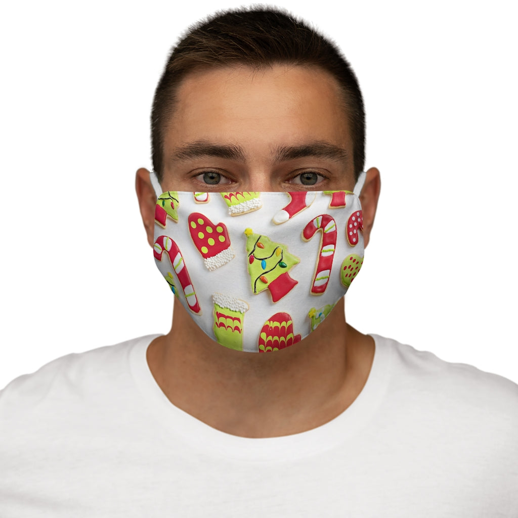 Christmas Cookie Snug-Fit Polyester Face Mask