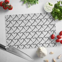 Load image into Gallery viewer, Foster Life Hero Heart Personalized Glass Cutting Board