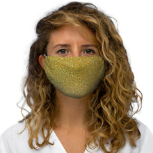 Load image into Gallery viewer, Gold Snug-Fit Polyester Face Mask