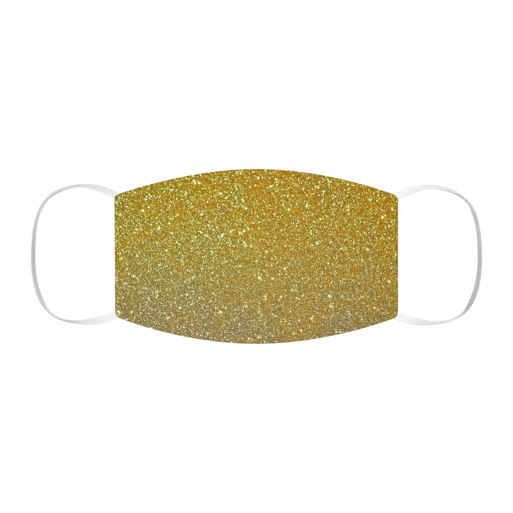 Gold Snug-Fit Polyester Face Mask