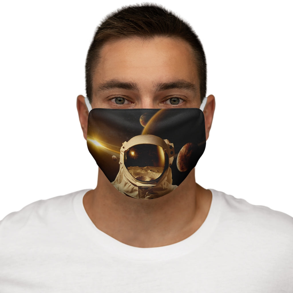 Space Walk Snug-Fit Polyester Face Mask
