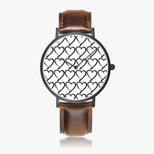 Load image into Gallery viewer, Foster Life Hero Heart Ultra-Thin Leather Strap Quartz Watch (Black)