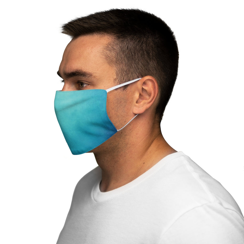 Blue Wave Snug-Fit Polyester Face Mask