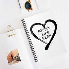 Load image into Gallery viewer, Foster Life Hero Spiral Notebook - Ruled Line