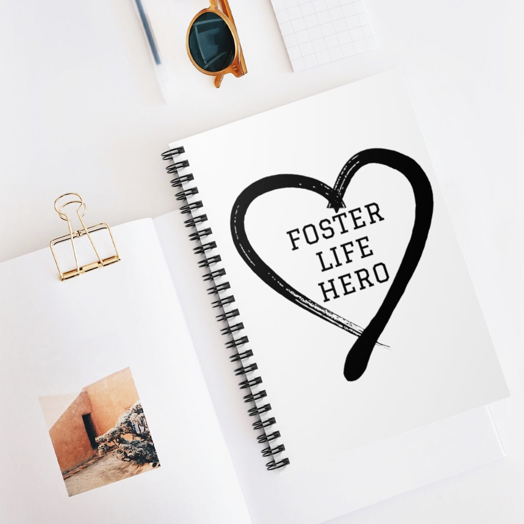Foster Life Hero Spiral Notebook - Ruled Line
