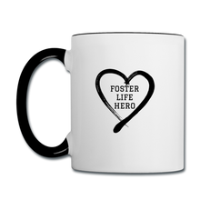 Load image into Gallery viewer, Foster Life Hero Contrast Coffee Mug - white/black