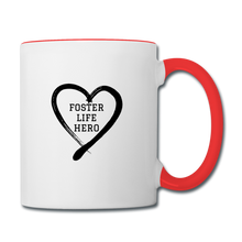 Load image into Gallery viewer, Foster Life Hero Contrast Coffee Mug - white/red
