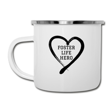 Load image into Gallery viewer, Foster Life Hero Camper Mug - white