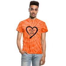 Load image into Gallery viewer, Foster Life Hero Unisex Tie Dye T-Shirt - spider orange
