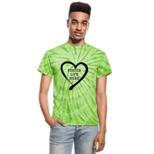 Load image into Gallery viewer, Foster Life Hero Unisex Tie Dye T-Shirt - spider lime green