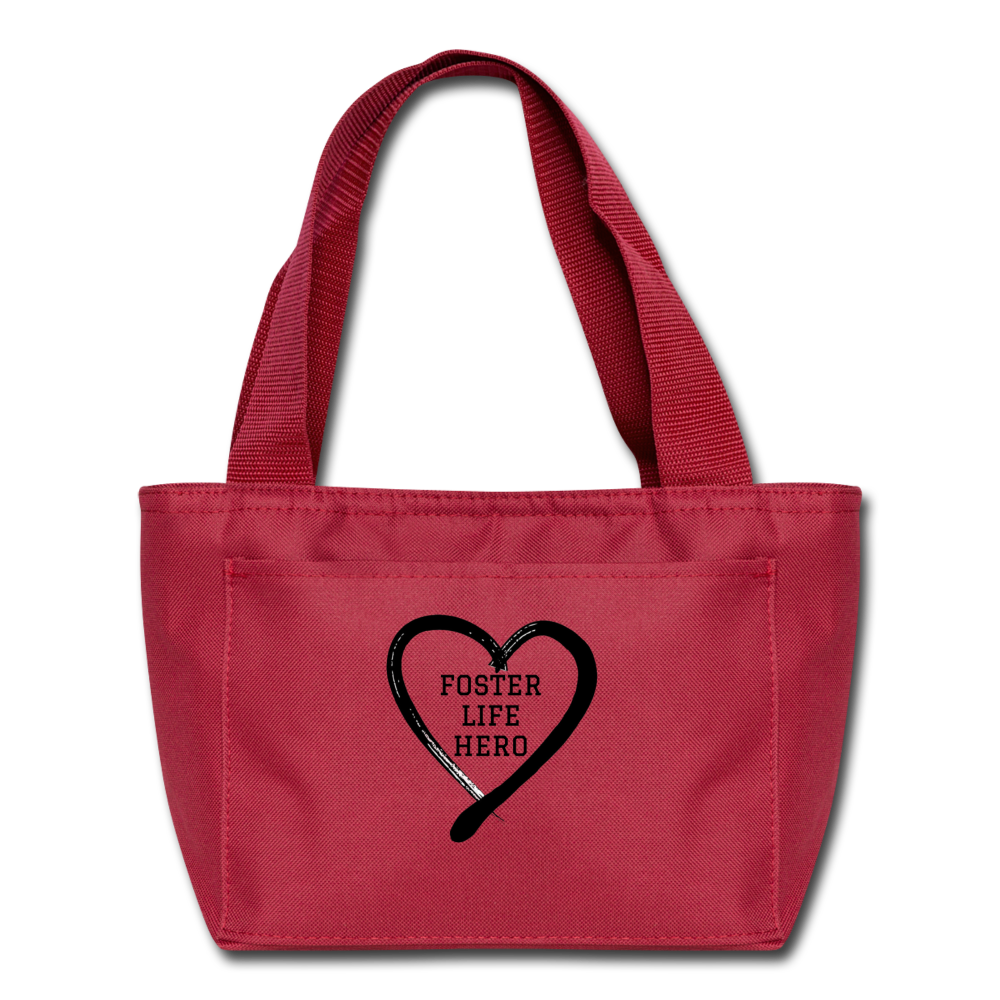 Foster Life Hero Lunch Bag - red