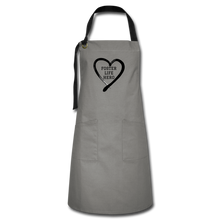 Load image into Gallery viewer, Foster Life Hero Artisan Apron - gray/black