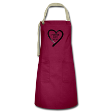 Load image into Gallery viewer, Foster Life Hero Artisan Apron - burgundy/khaki