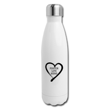 Load image into Gallery viewer, Foster Life Hero Insulated Stainless Steel Water Bottle - white