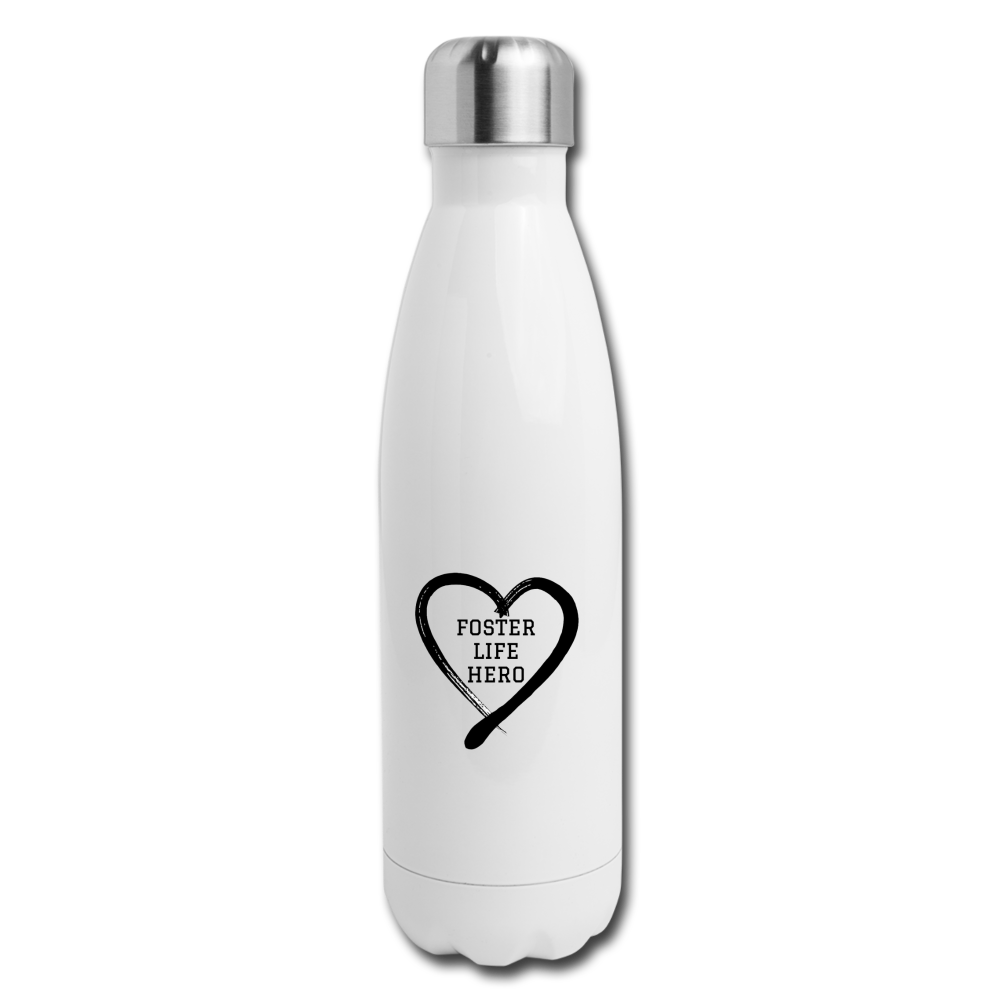 Foster Life Hero Insulated Stainless Steel Water Bottle - white
