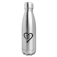 Load image into Gallery viewer, Foster Life Hero Insulated Stainless Steel Water Bottle - silver