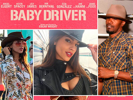 baby driver cast wearing their american hat makers hats
