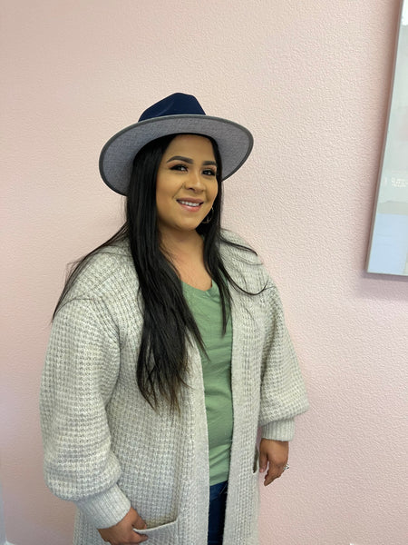 cynthia wearing her limited edition motown fedora