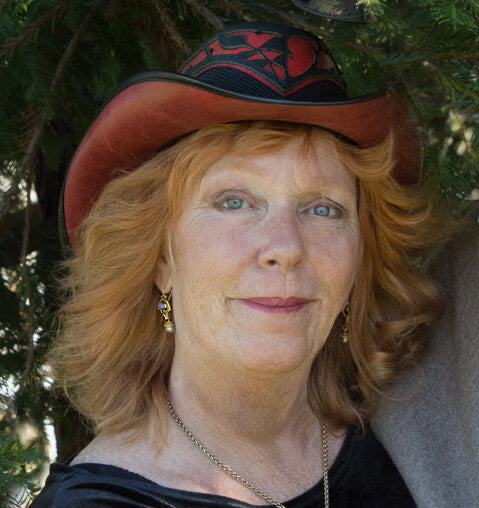 merry lee rae wearing her limited edition thorn hat