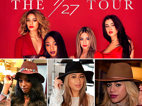 3 MEMBERS OF FIFTH HARMONY WEARING THEIR HATS