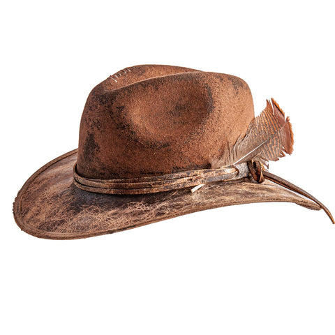 prospector distressed fedora by American Hat Makers