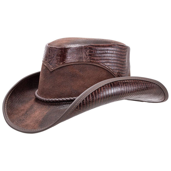 Reptile & Leather Cowboy Hat Arroyo Double G Hats from Head'n Home