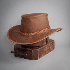 Crusher Outback Leather Hat