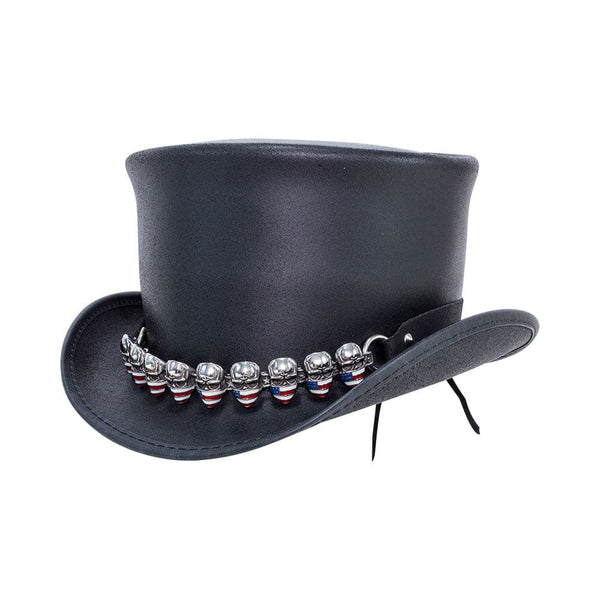 The El Dorado Flag Skull Hat Band Top Hat from Head'n Home