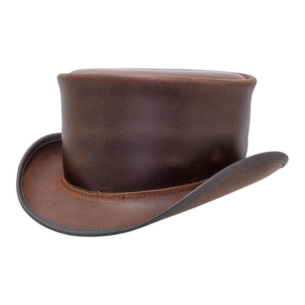 marlow brown unbanded top hat