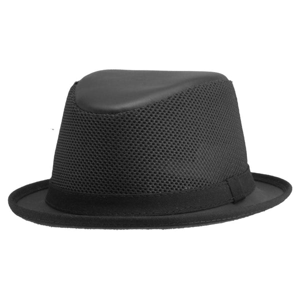 Black Mesh Fedora Hat - Head'n Home