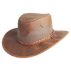 Sirocco Copper Mesh Leather Sun Hat
