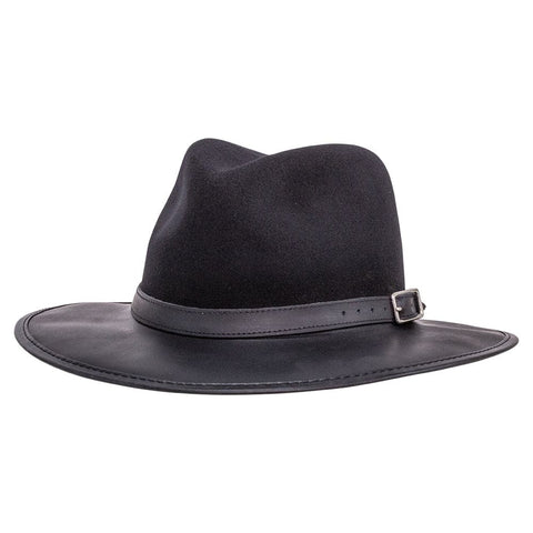 The Summit Leather Fedora, Buckle Band