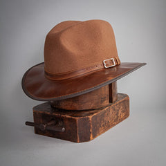 Summit Leather Fedora - Head'n Home