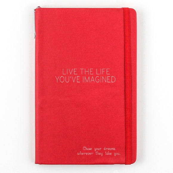 Red Notebook with Pen