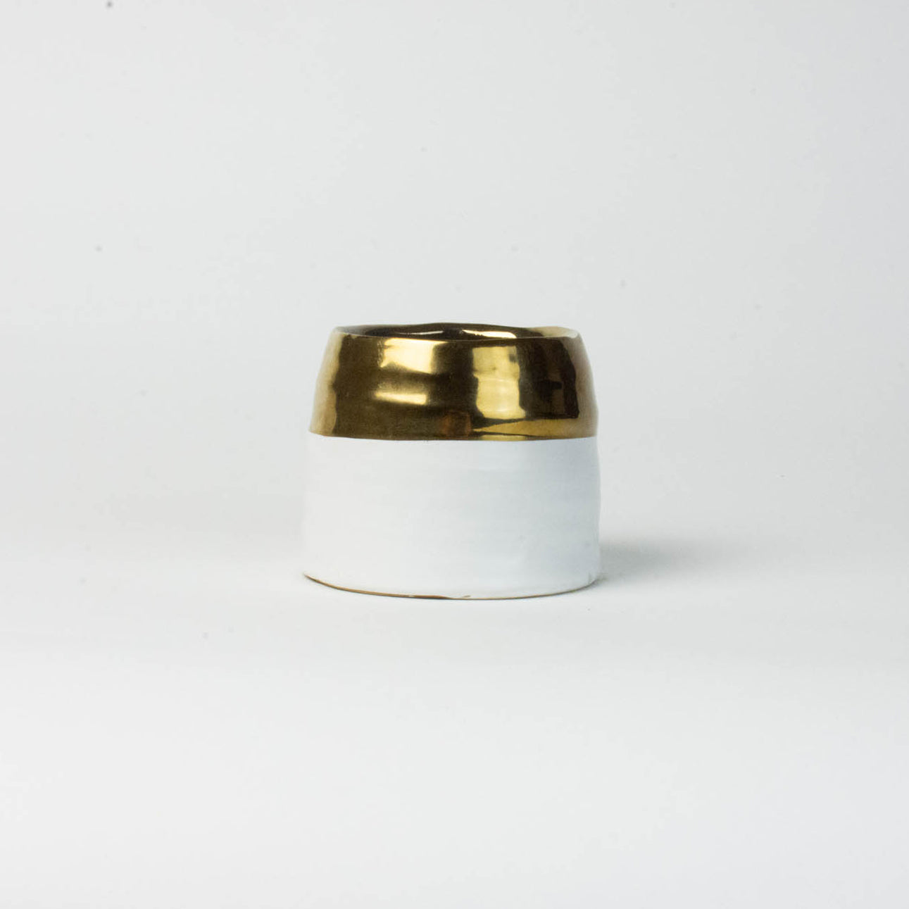 White with Gold Vase