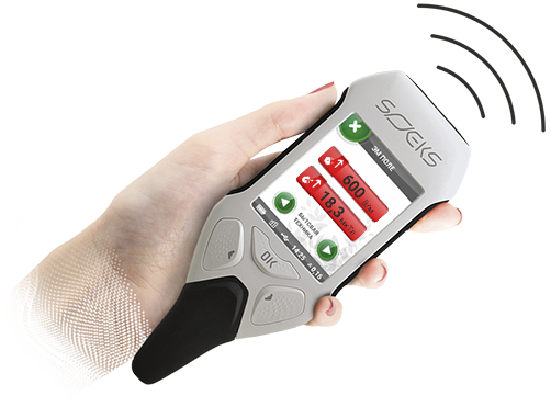 EMF Meter handheld measures RF fields 5G electromagnetic detector