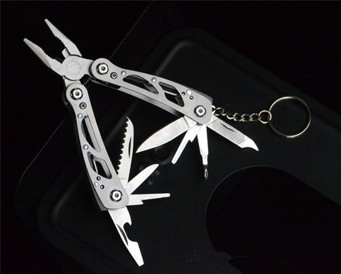Tactical Survival Emergency Multifunctional Pliers Knife Keychain