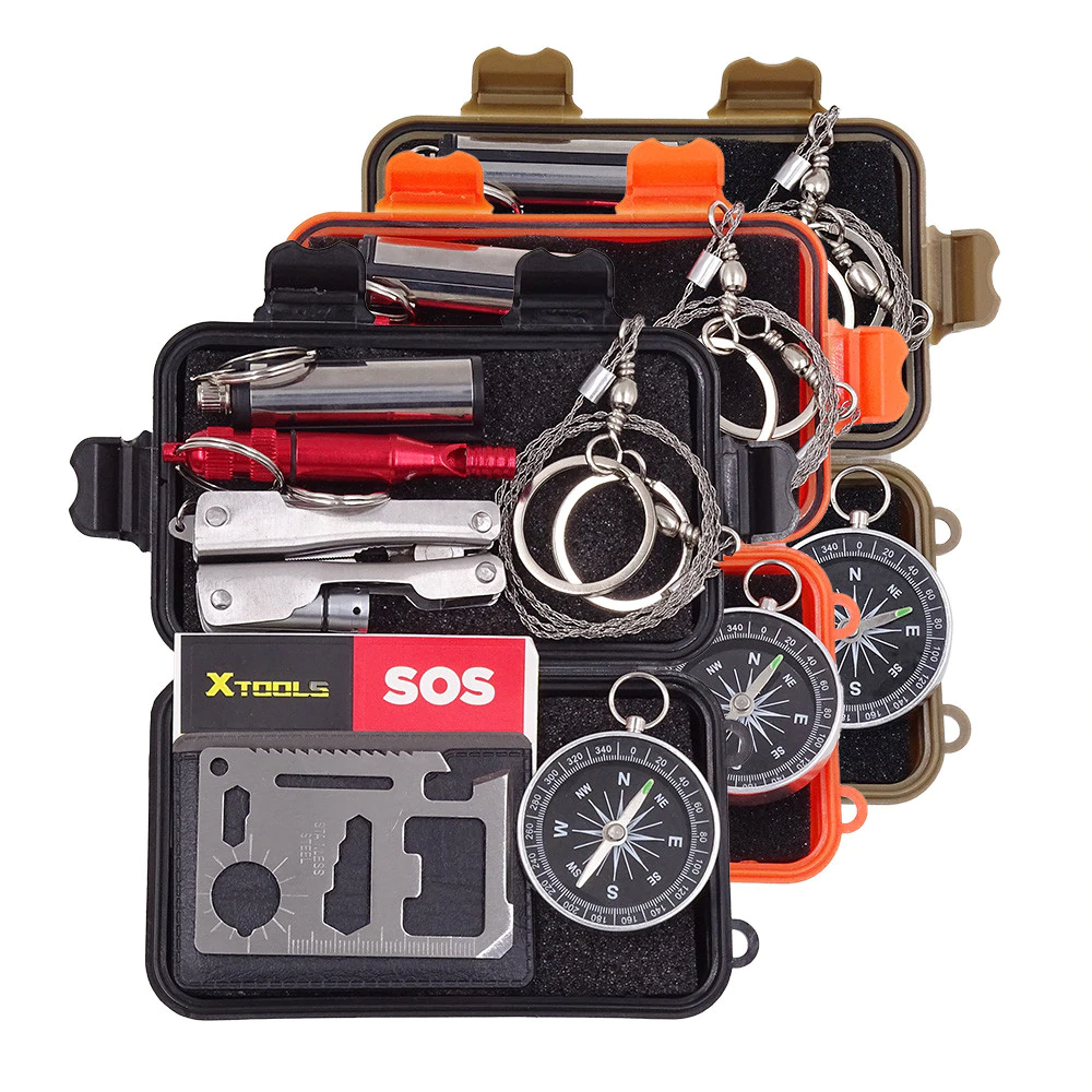 SOEKS Personal Emergency Survival Outdoor Kit Tactical Gear EDC Set of 6 Tools