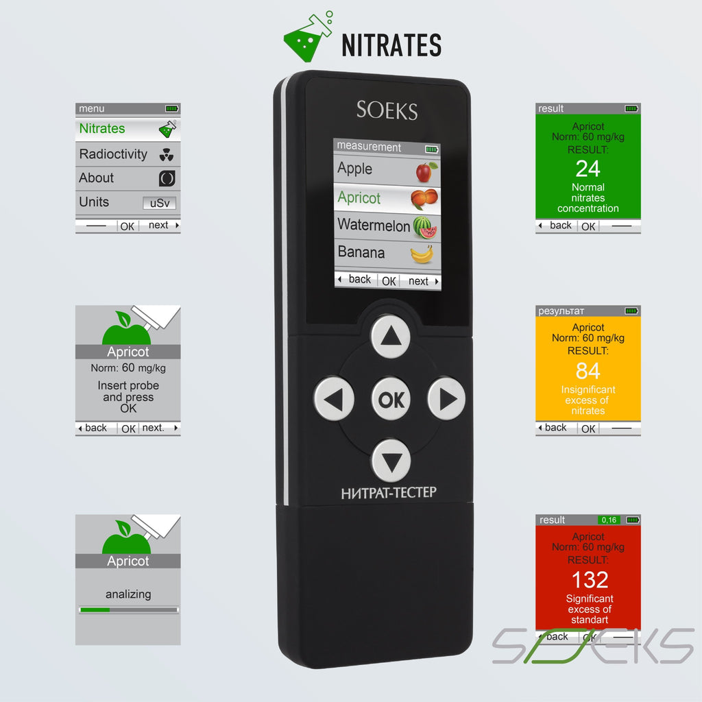 Nitrate Tester V2 - Meat Fruits Veggies Food Quality Meter All Products