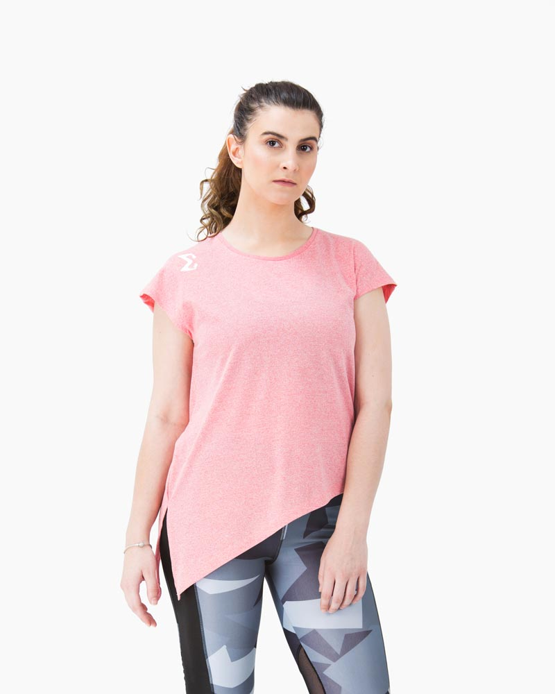 Side Knot T-shirt (Salmon Pink) - Sigma Fit US
