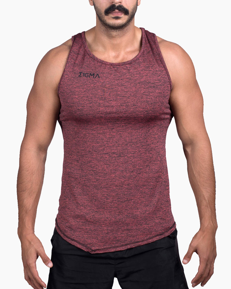 MEN'S FIERY TANK TOP (BRICK) - Sigma Fit US