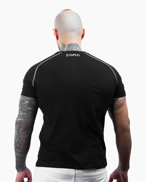 Hydro Flipped T-shirt (Black) - Sigma Fit US