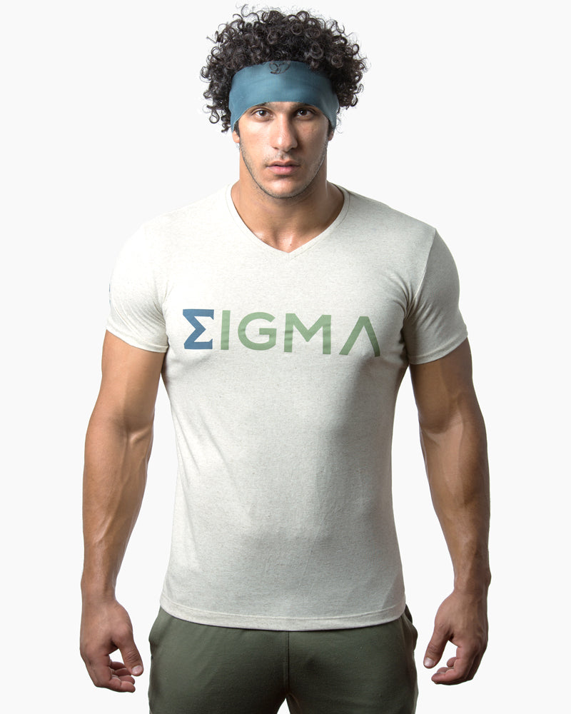 V-Neck T-shirt (Neon Green) - Sigma Fit US