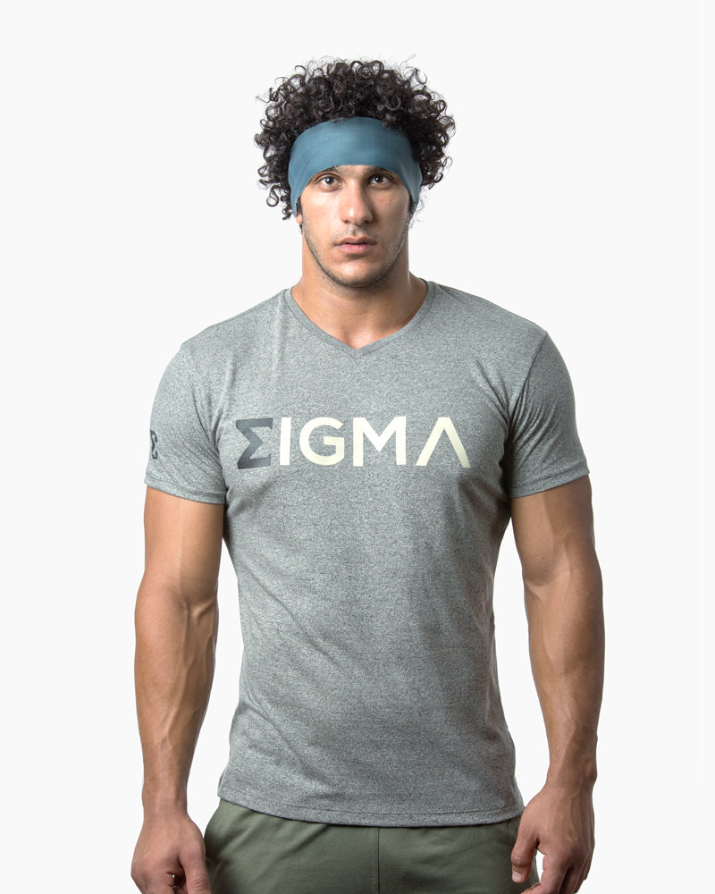 Round Neck T-shirt (Dark Grayish) - Sigma Fit US