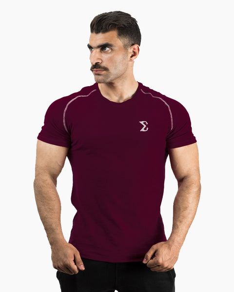 Hydro Flipped T-shirt (Maroon) - Sigma Fit US