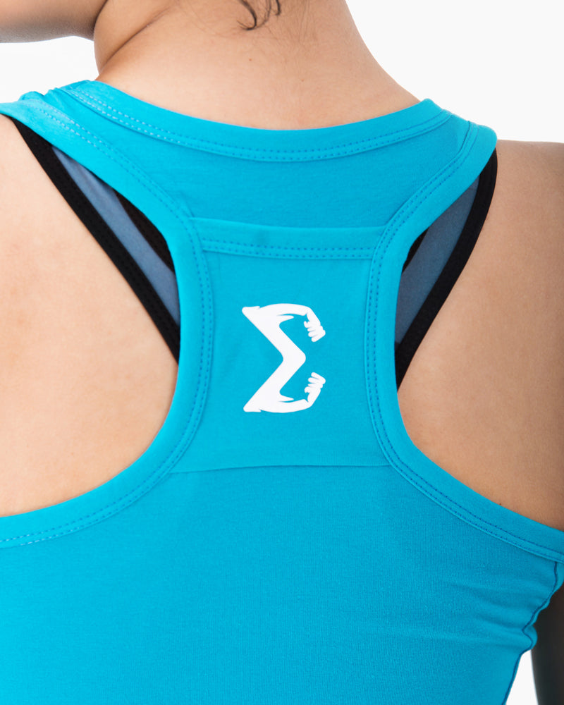 Racerback Tank (Turquoise) - Sigma Fit US
